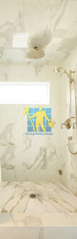 marble tiles shower wall floor calcutta polished luxury bathroom Adelaide