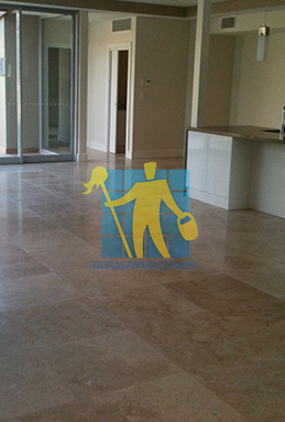 extra large porcelain floor tiles after cleaning empty room with kitchen Port Adelaide