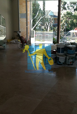 extra large porcelain floor tiles after cleaning empty room with polisher Port Adelaide