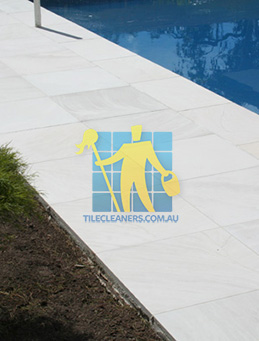 outdoor sandstone tile pool paving snow white Hazelwood Park
