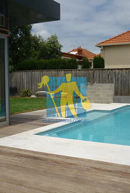 outdoor sandstone tiles pool coping snow white Hazelwood Park